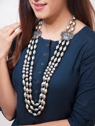 long silver statement necklace images N a rubans jpg