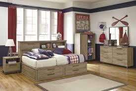 Wood Bed Frame With Shelves Furniture Grey Wooden Bed Frame With Storage And Shelves Also