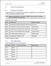 Excel Test Plan Template Test Plan Template Free Templates Forms And Checklists