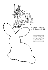 free applique patterns free applique pattern u2013 bunny rabbit