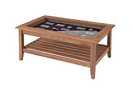 Glass Display Coffee Table Manchester Wood Glass Top Display Coffee Table