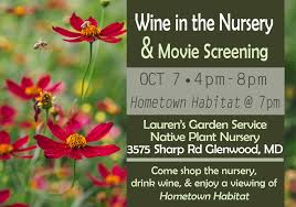 native plant nurseries outdoor movie free screening of hometown habitat u0026 fall annual