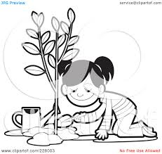 plant a tree clipart black and white clipartsgram com