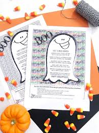 printable boo sign and poem for halloween 100 directions