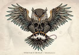 owl skull tattoo by sam phillips nz on deviantart