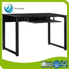 Computer Desk Portable Complete Knock Down Office Furniture Melamine Panel Computer Desk