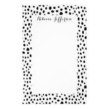 polka dot stationery black and white polka dot stationery zazzle