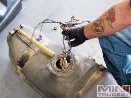 nissan titan fuel pump lmc trucks replacement fuel tank 1989 chevy s10 mini truckin