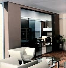 Glass Room Divider Doors Frameless Black Tinted Glass Room Divider Wall With Sliding Door