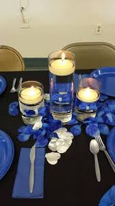 Candle Centerpieces For Birthday Parties by 6 Candle Holders Royal Blue Wedding Royal By Genevieveandpenelope