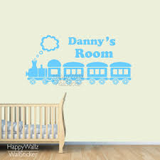 aliexpress com buy custom name wall sticker train children name