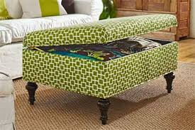 Green Storage Ottoman Fabric Green Storage Ottoman With Legs Useful And Functional