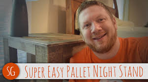 How To Make A Wooden End Table by Let U0027s Make A Super Easy Pallet End Table How To Youtube