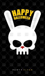 happy halloween background images happy halloween poster scary rabbit skull on black background