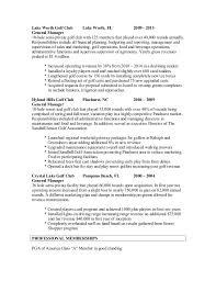 General Manager Sample Resume by Pga Sample Resume Gm