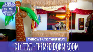diy tiki themed dorm room throwback thursday hgtv handmade