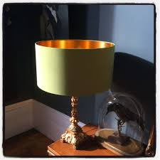 chartreuse handmade lshade with gold lining frankie