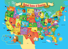 Unites States Map by Masterpieces Usa Map Puzzle 60 Pieces Walmart Com