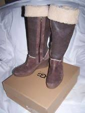 s ugg australia aubrie boots ugg australia zip wedge knee high boots for ebay