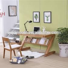 Z Shaped Desk Design Oak Furniture Z Shaped Wooden Desk Study Table Buy