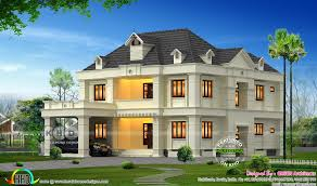 colonial house design 4 bhk 3200 sq ft colonial home in calicut kerala home design