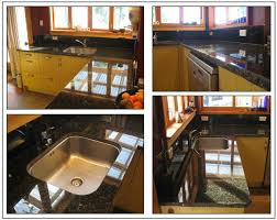 granite countertop standard sink cabinet size lg dishwasher