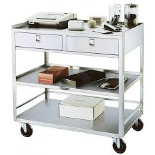 Kitchen Cart With Drawers by Lakeside Stainless Steel Utility Table With Two Drawers