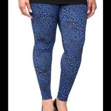 Blue Leopard Print Torrid Blue Leopard Print Torrid Leggings Plus Size From