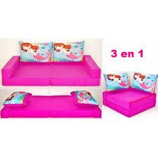 petit canap pour enfant canapé pour enfant 3 en 1 fuchsia coussins sirène achat