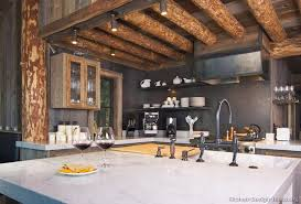 Home Kitchens Designs Contemporary Cabin Kitchen Design Home Designs With For Ideas