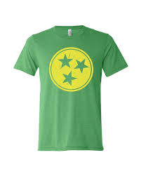 Flag With Yellow Star Tri Star Tennessee Flag Tn T Shirt Variety Of Colors In Men U0027s
