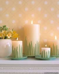 Home Decor Candles Eco Friendly Easter Candles Centerpieces Adding Color Light And