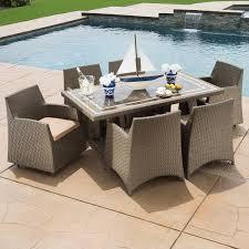 hampton patio furniture hampton 7 piece patio dining collection by sirio