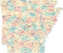Ouachita Mountains Map Of Arkansas
