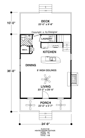 Main Level Floor Plans Cottage House Plan With 1 Bedroom And 1 5 Baths Plan 1896