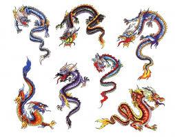 alien dragon evil bat eagle colorful tattoo design image clip