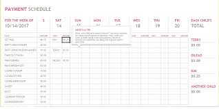 Payment Schedule Excel Template 5 Bill Payment Schedule Template Pdf Word Excel Tmp
