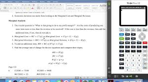 marginal costs marginal cost and marginal revenue youtube