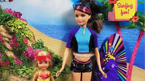 surfing skipper chelsea doll barbie skipper chelsea