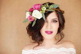 flower headpiece hair and make up by steph fresh flower tips