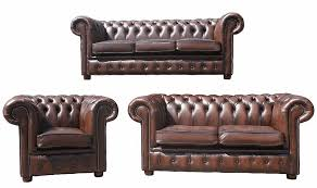 Chesterfield Sofa Suite Chesterfield 3 2 1 Leather Sofa Offer Antique Brown Chesterfield