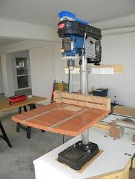 testing your drill press for squareness with scrap mdf and a