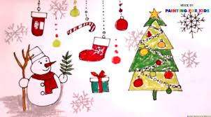 how to draw christmas tree for kids how to paint a christmas
