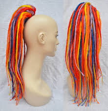 How To Dread Hair Extensions by Dreadlock Hair Extensions Clip On Ponytail Dreads Clip In And