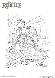 coloriage princesse disney rebelle dessin