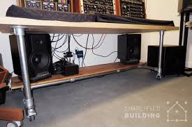 Easy To Assemble Desk Diy Studio Desk For Comfortable Keyboard Playing Simplified Building