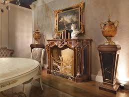 louis xv style fireplace carved wood idfdesign