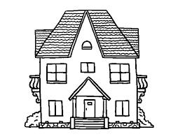 casa disegno disegno di casa con balconi da colorare acolore