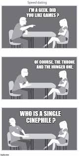 Geek Speed Dating Meme - speed dating imgflip