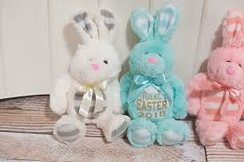 personalized easter bunny baby s easter or personalized easter bunny in pink blue or
